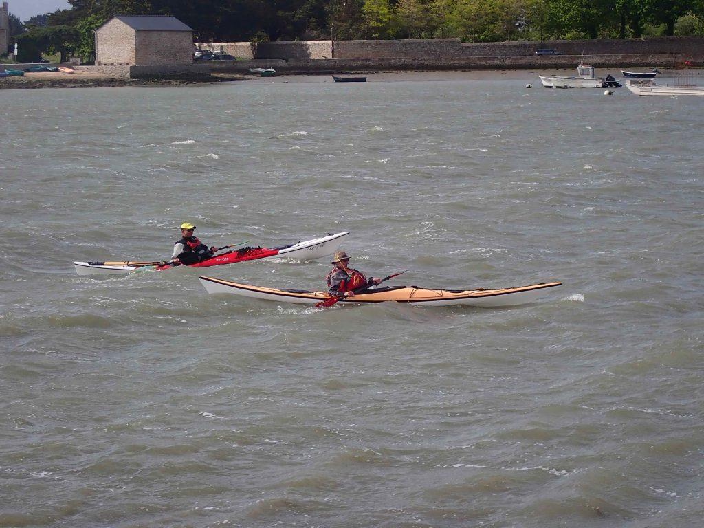 Stéphane et Patrick arrive à la cale de St Armel